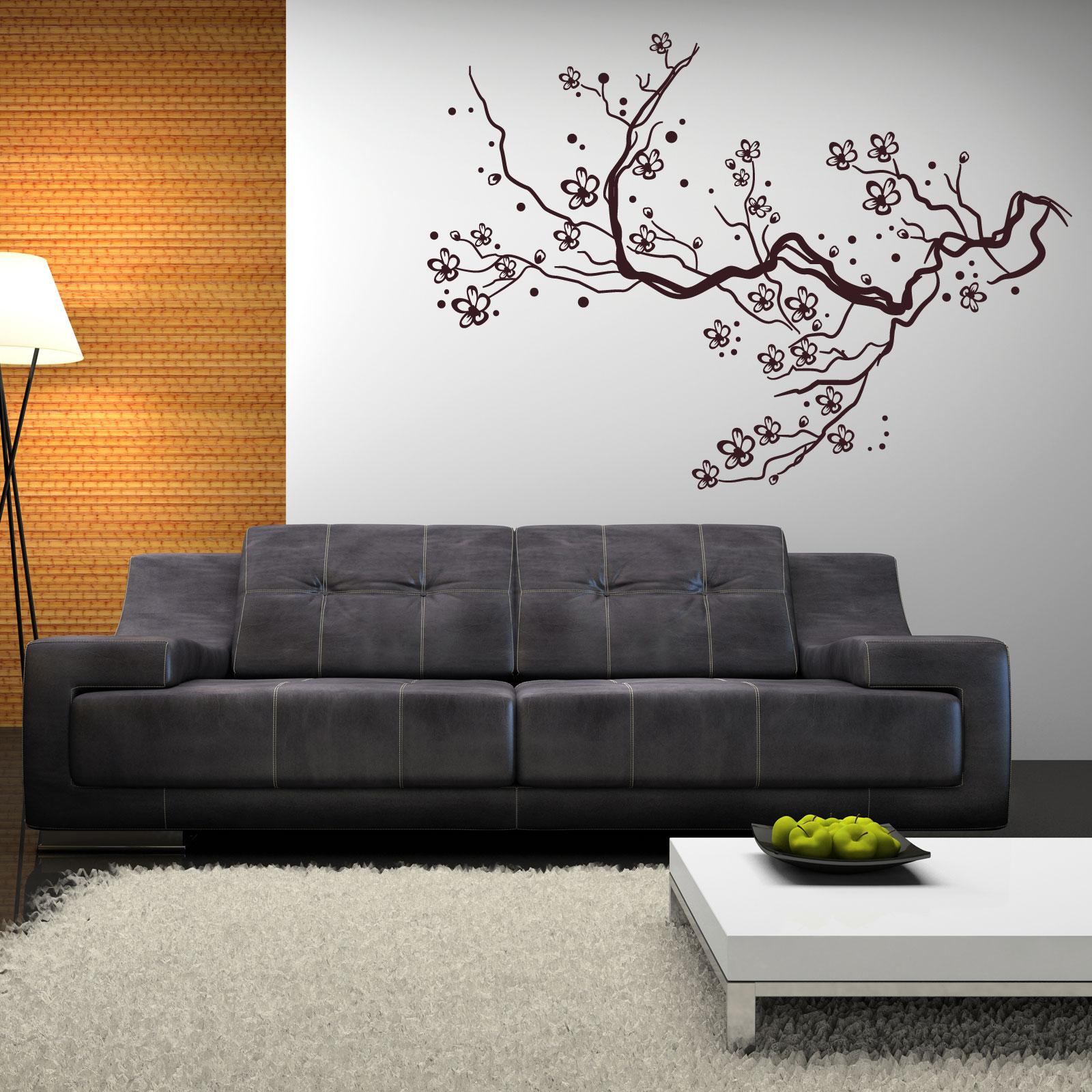 Wandtattoo sakura baumast, kirschblüte, japan, wohnzimmer ...